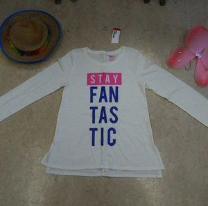 Epic Threads Girls Stay Fantastic Long Sleeve Top